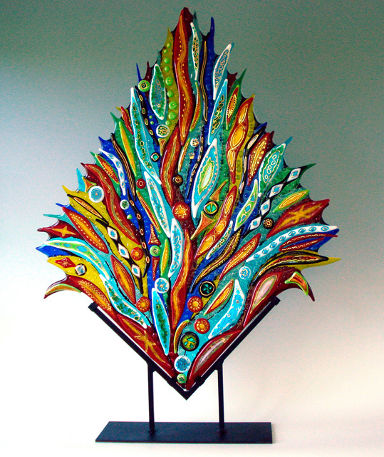 Fused Glass Garden Art